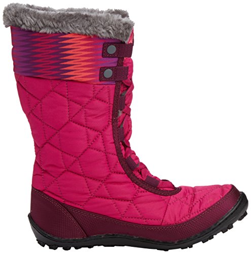 888664561286 - Columbia Youth Minx Mid WP OH Winter Boot (Little Kid/Big Kid), Deep Blush/Tropic Pink, 4 M US Big Kid carousel main 6