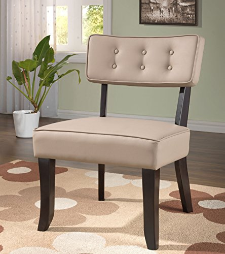 Kings Brand Furniture Vinyl Accent Chair With Button Tufts