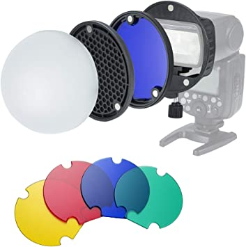 L/_shop Flash Diffuser Reflector Kit Camera for Canon Yongnuo Nikon and Other Speedlight