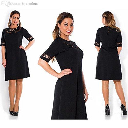 Manches Noir Femme 3 4 Robe Vincenza WAUq8wp8