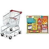Melissa & Doug Shopping Cart and Melissa & Doug Wooden Pantry Products Bundle