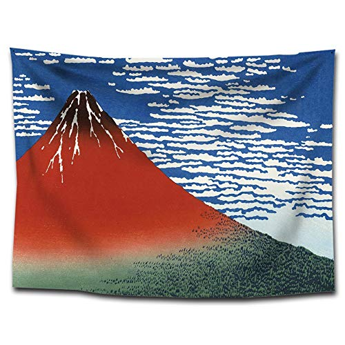 MATCHANT Tapestry Polyester Ukiyoie Wall Hanging Fabric Interior Wall Flag Beach Mat Table Cross Fabric Poster Kids Room Baby Room Kids Room Multifunctional Decorative Accessories