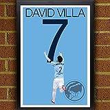 Guild Product - David Villa Poster - New York City FC Art