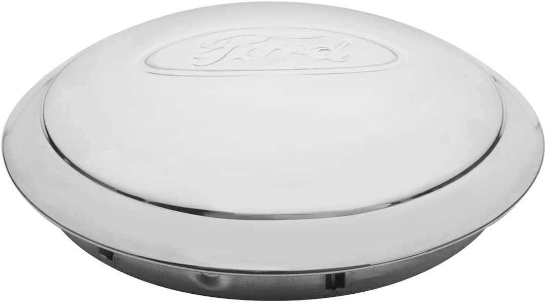KNS Accessories KA8005 Center Cap Ford 1934 Stainless Steel Wire Wheel, Ford Script Oval Logo