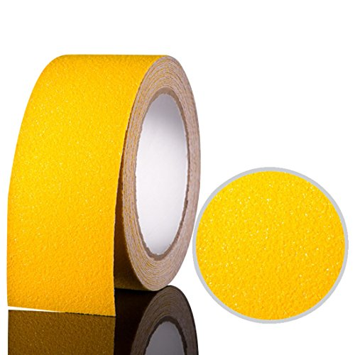 EONBON Yellow Anti Slip Tape, Non Slip Stair Tape, Anti Skid Tape Outdoor , Safety Grip Tape For Steps , Tread Tape - 2 inch x 10 Meter (32.8 Feet) by EONBON (Image #1)