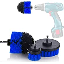 YIJINSHENG Medium Brush with Drill Attachment Scrubbing Brushes for Cleaning Car Tires,Carpet, kitchens,Bathrooms, Showers, Grout, Tile, Boats Power Scrubber Cleaning Multipurpose 3 pack Kit