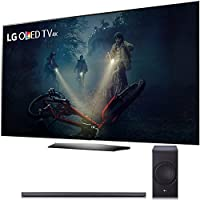 LG B7A Series 55 OLED 4K HDR Smart TV 2017 Model (OLED55B7A) with LG SJ8 300W 4.1-Channel Hi-Fi Bluetooth Audio Sound Bar with Wireless Subwoofer