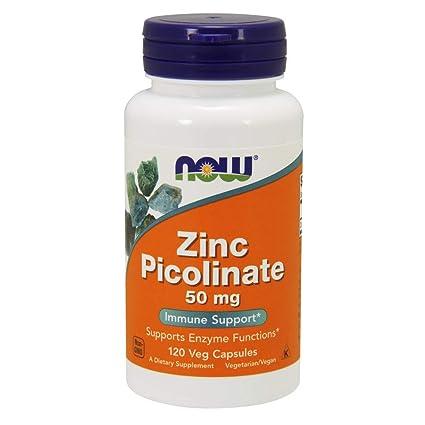 Now Foods, Picolinato de Zinc - 50mg x120caps