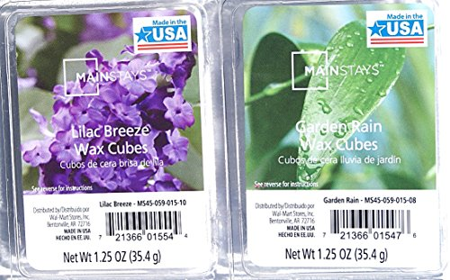 Mainstays Nature's Scents Wax Cubes Bundle - Garden Rain and Lilac Breeze (Lilac Bundles)