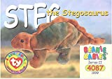 TY Beanie Babies BBOC Card - Series 2 Common - STEG the Stegosaurus