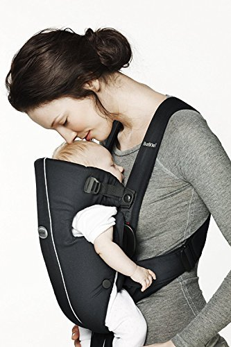 Baby Bjorn 023056US The Original Classic Baby Carrier – 0+ Months 8-25 LBS Black