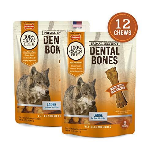 Nylabone Primal Instinct Dog Dental Chews, Chicken, Large, Bundle - Nylabone Corn