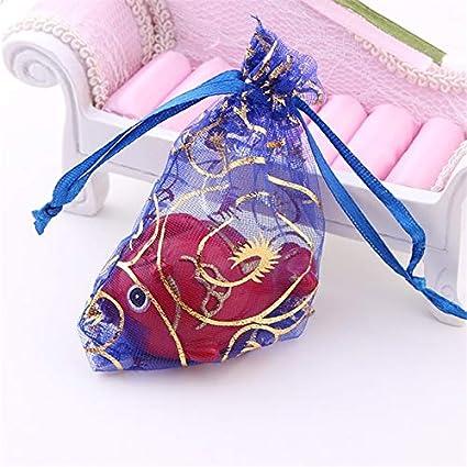 100pc 10 * 12cm Bolsas de organza de tul Bolsas de dulces ...
