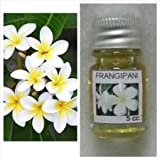 Frangipani (Leelawadee) Flower Scent (1 Piece) and Dok Peep Cork Tree Pure Oil Aroma Scent (1 Piece) Thai Spa Aroma Pure Essential / Fragrance Oil for Spa Bath, Candle Lamp Burner, 5ml