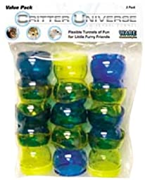 Ware Manufacturing Critter Universe Universal Small Pet Tunnel, 3-Pack