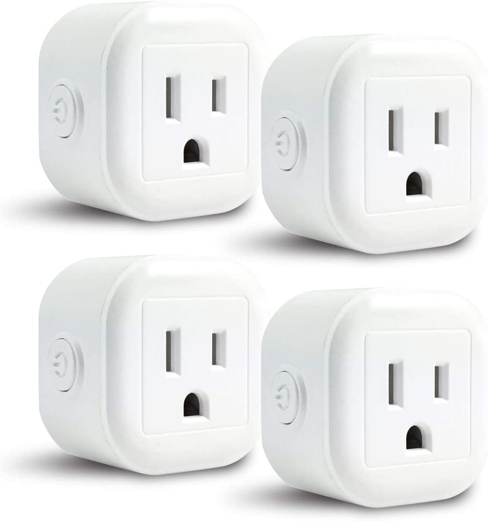 Blue Shark WiFi Mini Plug, Smart Home Power Control Socket, Wireless Control Your Household Appliance from Anywhere, No Hub Required, Compatible with Alexa and Google Home (4PACK)