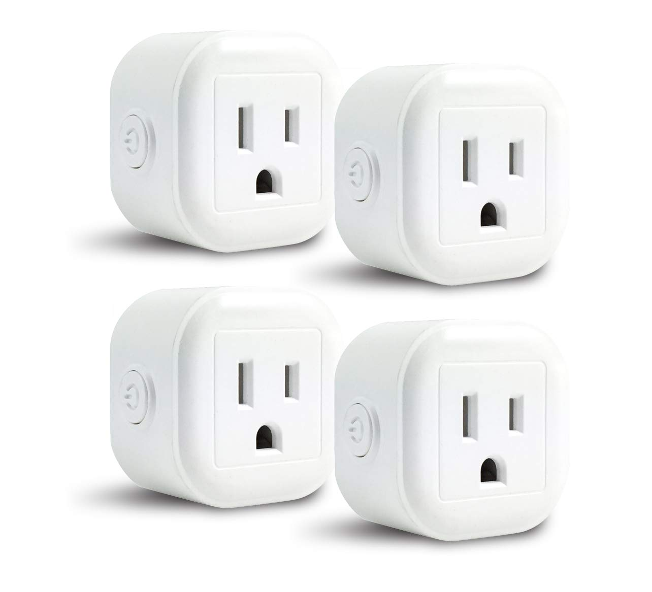 GoldenDot WiFi Mini Plug, Smart Home Power Control Socket, Wireless Control Your Household Appliance from Anywhere, No Hub Required, Compatible with Alexa and Google Home (4Pack)