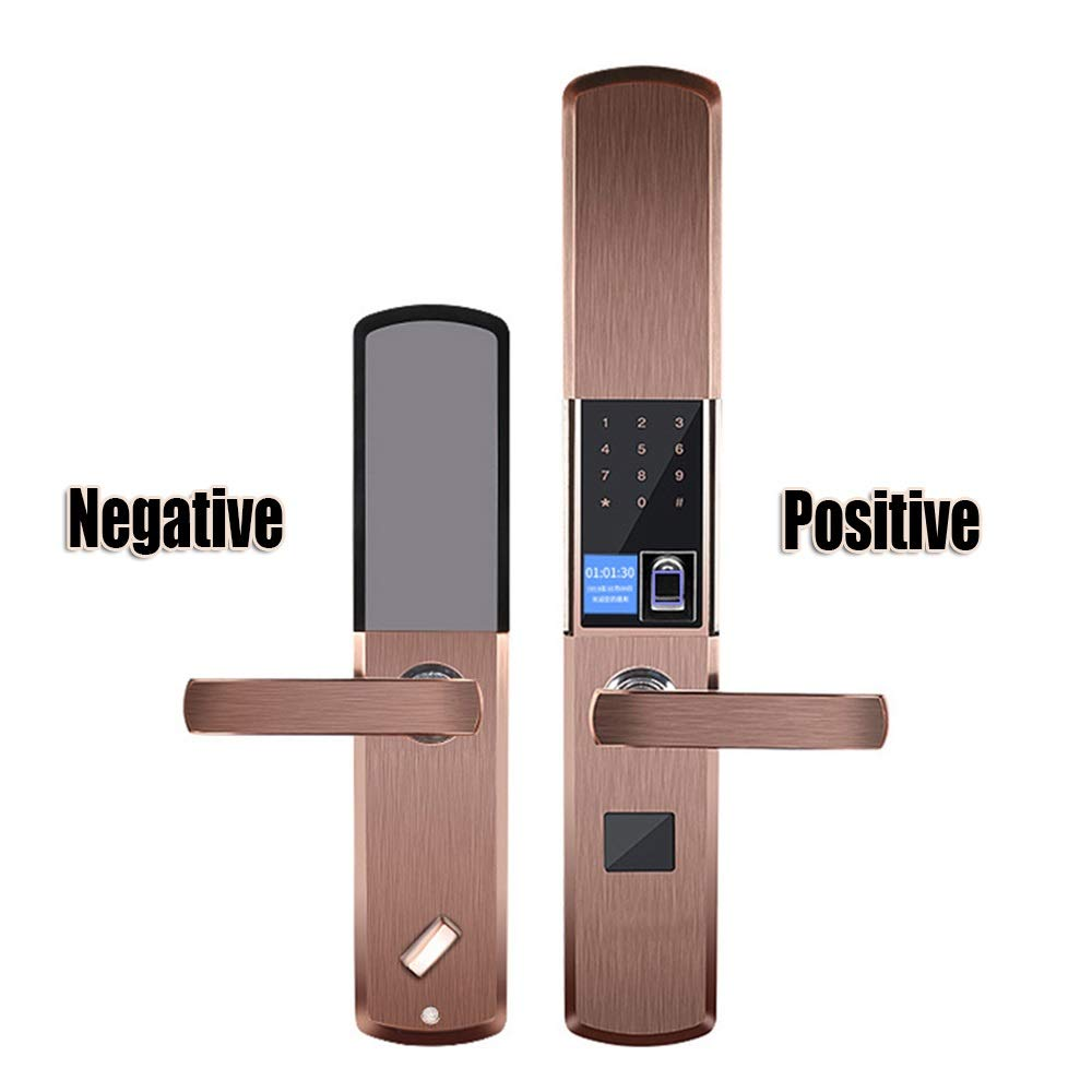 Darshion Fingerprint and Touchscreen Keyless Smart Lever Door Lock (Color : T1)