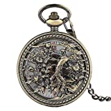 Vintage Pocket Watch, Phoenix Mechanical Pocket Watch, Retro Style Skeleton Dial Gifts for Men