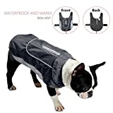 Waterproof Reflective Dog Vest Soft Comfortable Dog Jacket Winter Autumn Warm Dog Raincoat with Harness Hole Pet Vest Coat for Small Medium Large Dogs(Black L)