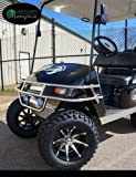 EZGO TXT Electric Golf Cart 2001-2013 6' STEELENG Lift Kit + 12' Steeleng Wheels and 23' All Terrain Tires - Set of 4 (GOLF CART NOT INCLUDED)