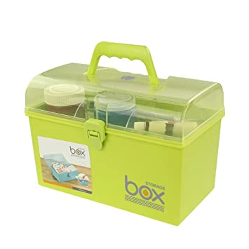 Pekky Plastic Small Handle Storage Box for Art Craft and Cosmetic (green)  sc 1 st  Amazon.com & Amazon.com : Pekky Plastic Small Handle Storage Box for Art Craft ... Aboutintivar.Com