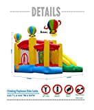 BestParty Climbing Playhouse Slide Castle Inflatable Bouncer with Rotating Balloon, Without Blower
