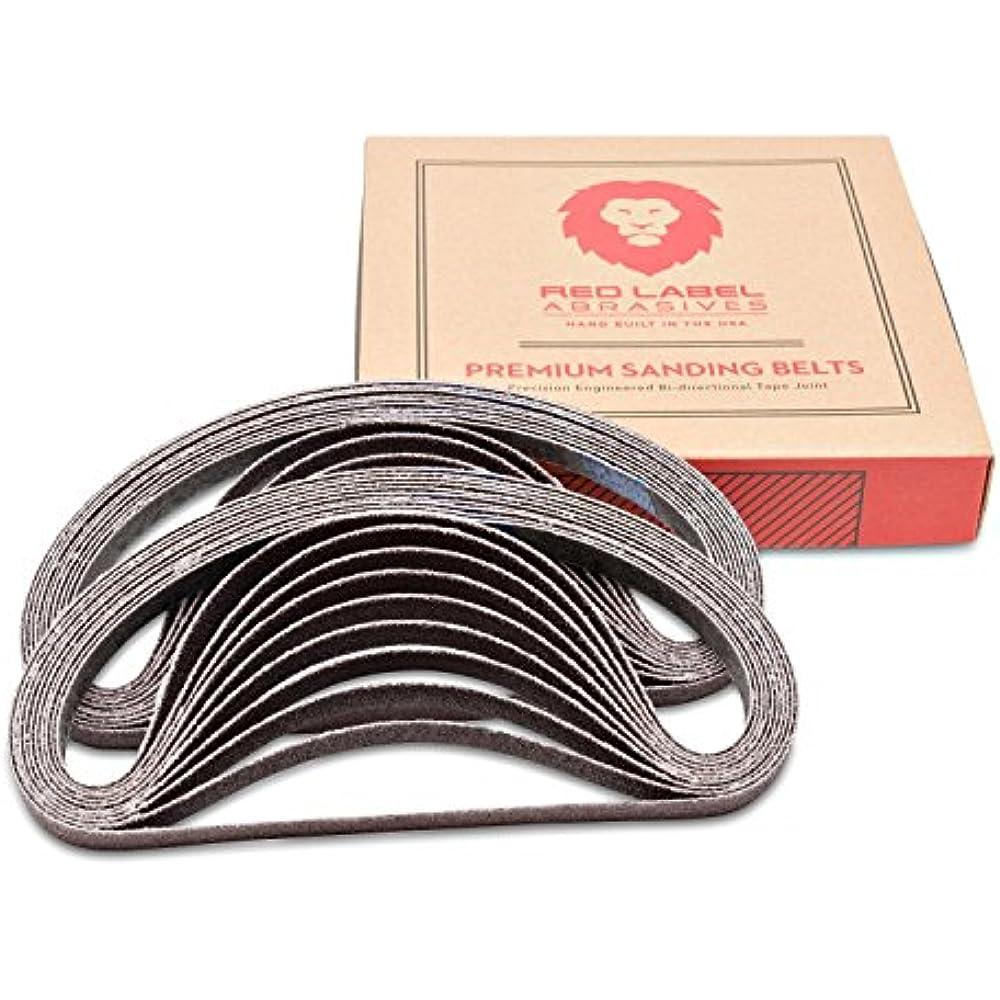 20 Pack 1//2 X 24 Inch 60 Grit Aluminum Oxide Air File Sanding Belts