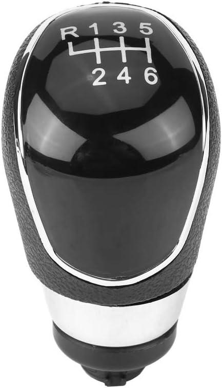 Qiilu Schaltknauf Kopf 6 Geschwindigkeit Auto Schalthebel Schaltknauf Kopf Für Focus Mk3 Auto