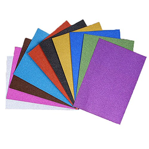 Glitter foam sheet sparkles self adhesive sticky a4 size for Soft foam sheets craft