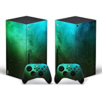 Whole Body Protective Vinyl Skin Decal Cover for Xbox Series X Skin Wrap Sticker with Two Free Wireless Controller…