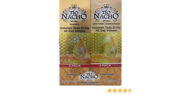 Amazon.com : TIO NACHO Natural Lightening Shampoo and Conditioner, Twin Pack (2 Pack, 14 fl. oz. Each) : Beauty