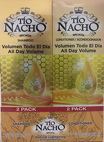 TIO NACHO Natural Lightening Shampoo and Conditioner, Twin Pack (2 Pack, 14 fl. oz. Each)