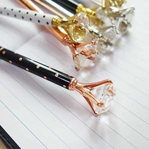 8PCS Big Crystal Diamond Pens - Beautiful Bling Metal Ballpoint Pen for Women,Co-Workers,Kids,Girls Photo #5