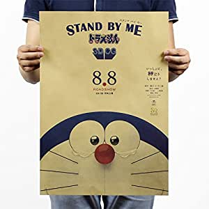 Amazon.com: Doraemon Japón Anime papel Kraft cartel Retro ...