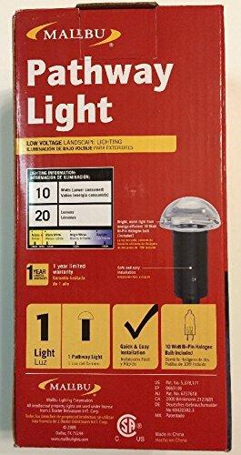 Malibu 8301-9301-01 Mushroom Bollard Light, Black Gloss