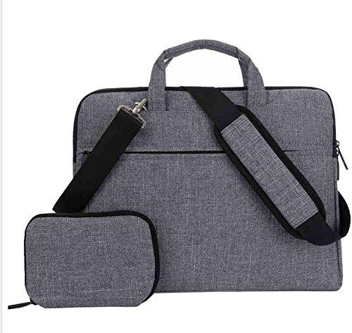 Slim Canvas Briefcase Handle Shoulder Messenger Bag Case for MSI GS75 Stealth/LG Gram 17 / HP ZBook 17 G5 / Omen 17 / HP Envy 17 / PowerSpec 1710 17 in Laptops