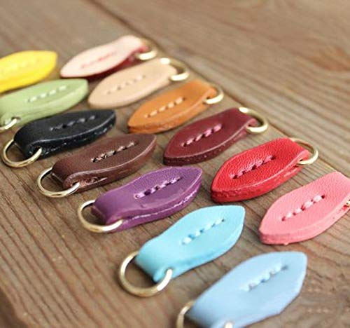 - Maslin 10pcs Zipper Head Pendant Clothes O Ring Buckles DIY Bag Shoes Zipper Puller Sliders Luggage Accessories Handbags Pendant - (Color: Purple)