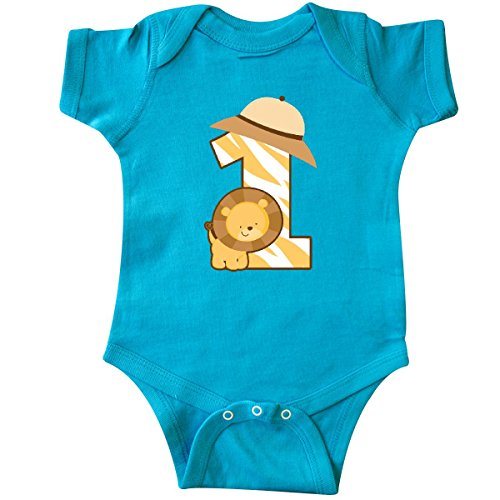 Jungle Bodysuit - inktastic Safari 1st Birthday Jungle Animal Infant Creeper 18 Months Turquoise