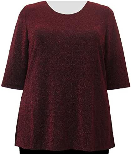 A Personal Touch Ruby Sparkle Women's Plus Size Top