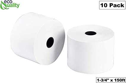 """100 NEW ROLLS  *FREE SHIPPING 1-3//4/"""" 44mm x 220/' THERMAL CASH REGISTER PAPER"""