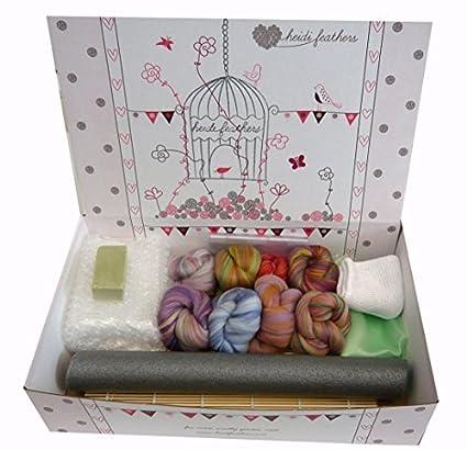 Heidifeathers® Kit de fieltro mojado - Merino con teñido de ...