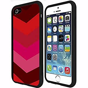 Colorful Red Chevron Print Rubber Snap on Phone Case (iPhone 6 Plus)