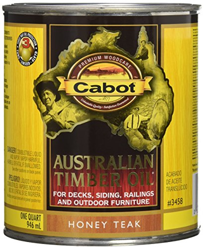 Cabot Stain - Cabot Stains 3458 Australian Timber Oil for Decks & Outdoor Furniture, 1 quart, Teak