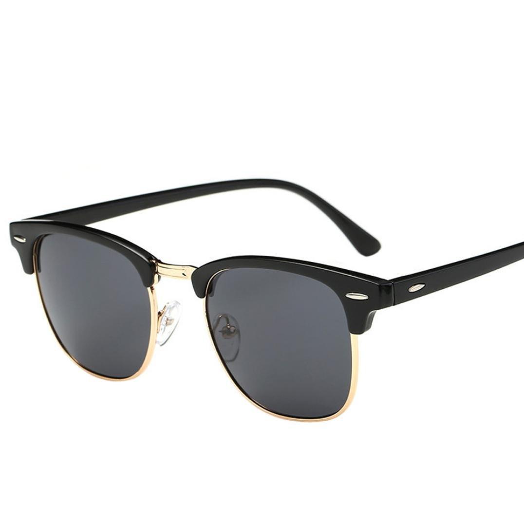 Qmber stilvolle Sonnenbrille, Retro Vintage Schlagkraft Cat Unisex Sonnenbrillen Rapper Oval Shades grunge Brille Fashion Flat Sonnenbrille
