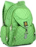 Lampart Daisy Girl's college,High School Book Bag (23 L) (Lime Green)