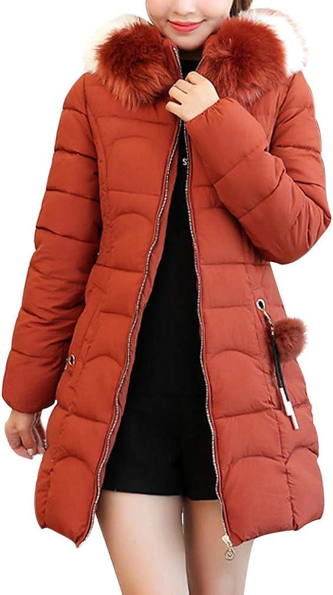 FRAUIT Piumino Donna Lungo Piumini Lunghi Cappotto Imbottito Invernali Elegante Ragazza Giubbotto Giubbini Parka Giacche Giacca con Cappuccio Cappotti Outwear Caldo Leggero Piuma Cotone