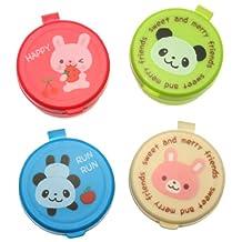 Kotobuki 380-376 Condiment Containers for Bento Box, Mini, Animal Friends