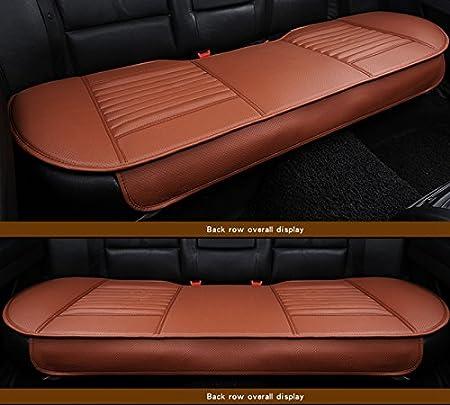 HCMAX Las cuatro estaciones del asiento transpirable interior del coche de la cubierta del amortiguador del borde de envolver coj/ín de la estera 2 1 cubiertas de asientos delanteros y traseros Gris