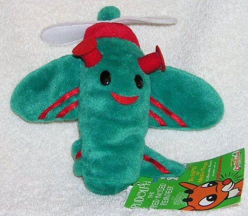 Rudolph Island of Misfit Toys 7 RARE Plush Grün Misfit Plane CVS Bean Bag from 1999 by Stuffins